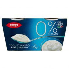 Coop-0% di Grassi Yogurt Magro Bianco Naturale 2 x 125 g
