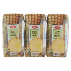 Coop-100% Ananas 3 x 200 ml