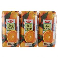 Coop-100% Arancia 3 x 200 ml