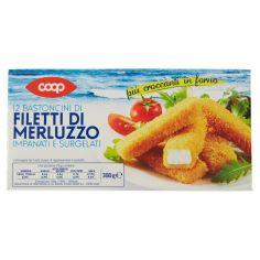 Coop-12 Bastoncini di Filetti di Merluzzo Impanati e Surgelati 300 g