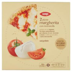 Coop-2 pizze margherita con mozzarella surgelate 2 x 330 g