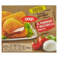 Coop-4 Crêpes con Ripieno al Pomodoro e Mozzarella Surgelate 4 x 62,5 g
