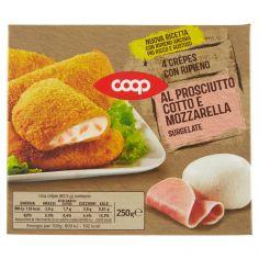 Coop-4 Crêpes con Ripieno al Prosciutto Cotto e Mozzarella Surgelate 4 x 62,5 g