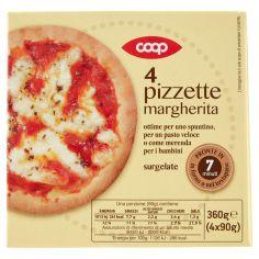 Coop-4 pizzette margherita surgelate 4 x 90 g