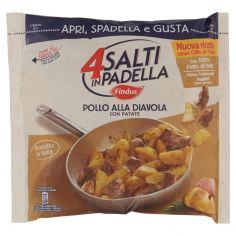 4 SALTI IN PADELLA-4 Salti in Padella Findus Pollo alla Diavola con Patate 500g