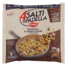 4 SALTI IN PADELLA-4 Salti in Padella Findus Tagliatelle ai Funghi Porcini e Champignon 550g