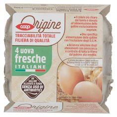 Coop-4 uova fresche Italiane 230 g