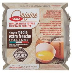 Coop-4 uova medie extra fresche Italiane