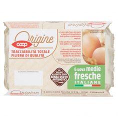 Coop-6 uova medie fresche Italiane