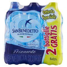 SAN BENEDETTO-Acqua Minerale San Benedetto Benedicta frizzante 0,5L (4+2)