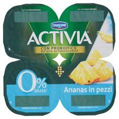 ACTIVIA-Activia 0% Grassi Ananas in pezzi 4 x 125 g