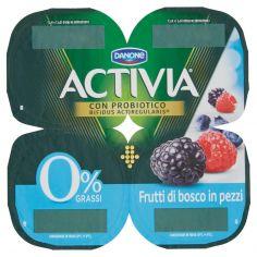 ACTIVIA-Activia 0% Grassi Frutti di bosco in pezzi 4 x 125 g