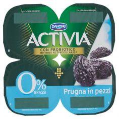ACTIVIA-Activia 0% Grassi Prugna in pezzi 4 x 125 g
