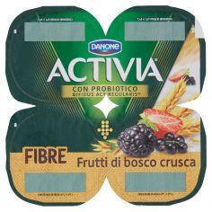 ACTIVIA-Activia Fibre Frutti di bosco crusca 4 x 125 g