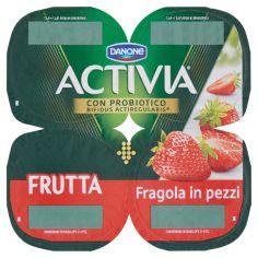 ACTIVIA-Activia Frutta Fragola in pezzi 4 x 125 g