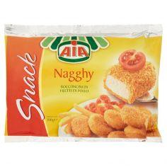 AIA-Aia Snack Nagghy Bocconcini di Filetti di Pollo Surgelato 300 g