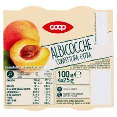Coop-Albicocche Confettura Extra 4 x 25 g