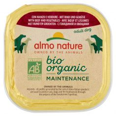 DAILY MENÙ BIO-almo nature bio organic Maintenance adult dog con Manzo e Verdure 300 g