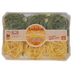 ANDALINI-Andalini Antica Tradizione Pasta all'uovo con spinaci Mezzane Paglia e Fieno 250 g