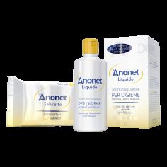 ANONET-Anonet Cofanetto con Detergente liquido e Salviette