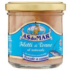 ASDOMAR-Asdomar Filetti di tonno pescato a canna naturale 150 g