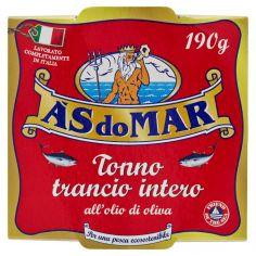 ASDOMAR-Asdomar Tonno trancio intero all'olio di oliva 190 g