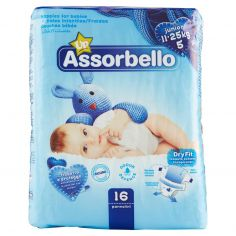 ASSORBELLO-Assorbello Up junior 11-25 kg (taglia 5) 16 pz