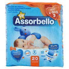 ASSORBELLO-Assorbello Up midi 4-9 kg (taglia 3) 20 pz