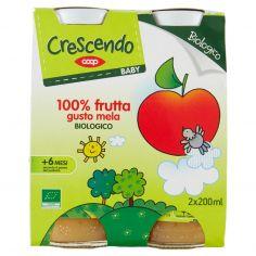 Coop-Baby 100% frutta gusto mela Biologico 2 x 200 ml
