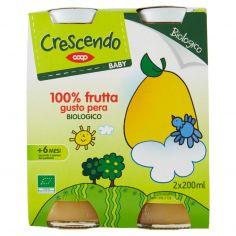 Coop-Baby 100% frutta gusto pera Biologico 2 x 200 ml