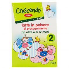 Coop-Baby 2 latte in polvere di proseguimento da oltre 6 a 12 mesi 700 g