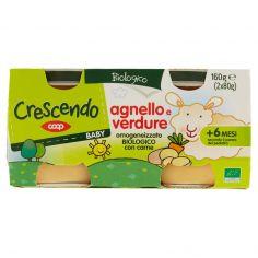 Coop-Baby agnello e verdure omogeneizzato Biologico con carne 2 x 80 g