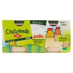 Coop-Baby pollo omogeneizzato Biologico con carne 2 x 80 g