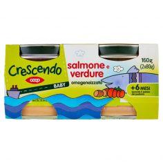 Coop-Baby salmone e verdure omogeneizzato 2 x 80 g