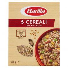 BARILLA-Barilla 5 Cereali con Riso Rosso 400 g