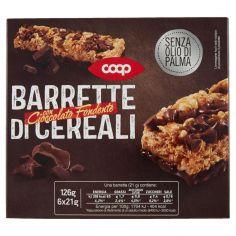 Coop-Barrette di Cereali con Cioccolato Fondente 6 x 21 g