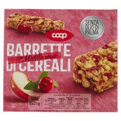 Coop-Barrette di Cereali con Mirtillo rosso 6 x 21 g