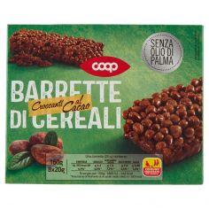 Coop-Barrette di Cereali Croccanti al Cacao 8 x 20 g