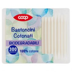Coop-Bastoncini Cotonati Biodegradabili 300 pz