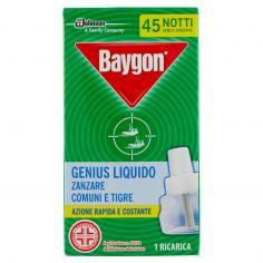 BAYGON-Baygon Genius Liquido Zanzare Comuni e Tigre 1 Ricarica 27 ml