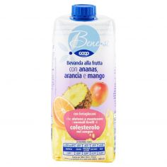 Coop-Bevanda alla frutta con ananas, arancia e mango 750 ml