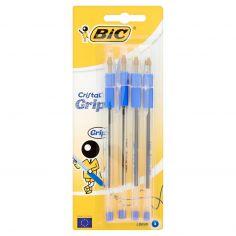 Bic Cristal grip 1.0 mm 4 penne blu