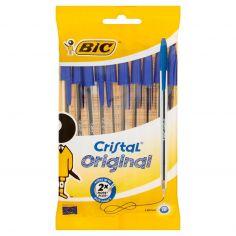 Bic Cristal original 1.0 mm 10 penne blu