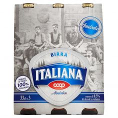 Coop-Birra Italiana Analcolica 3 x 33 cl