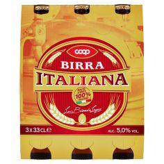 Coop-Birra Italiana la Bionda Lager 3 x 33 CL