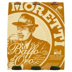 BAFFO ORO-Birra Moretti Baffo d'Oro 3 x 33 cl