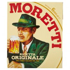 BIRRA MORETTI-Birra Moretti Ricetta Originale 6 x 66 cl