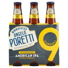 BIRRIFICIO ANGELO PORETTI-Birrificio Angelo Poretti Le Oltreconfine 9 Luppoli American Ipa 3 x 33 cl