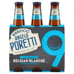 BIRRIFICIO ANGELO PORETTI-Birrificio Angelo Poretti Le Oltreconfine 9 Luppoli Belgian Blanche 3 x 33 cl