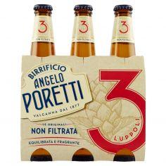 BIRRIFICIO ANGELO PORETTI-Birrificio Angelo Poretti Le Originali 3 Luppoli Non Filtrata 3 x 33 cl